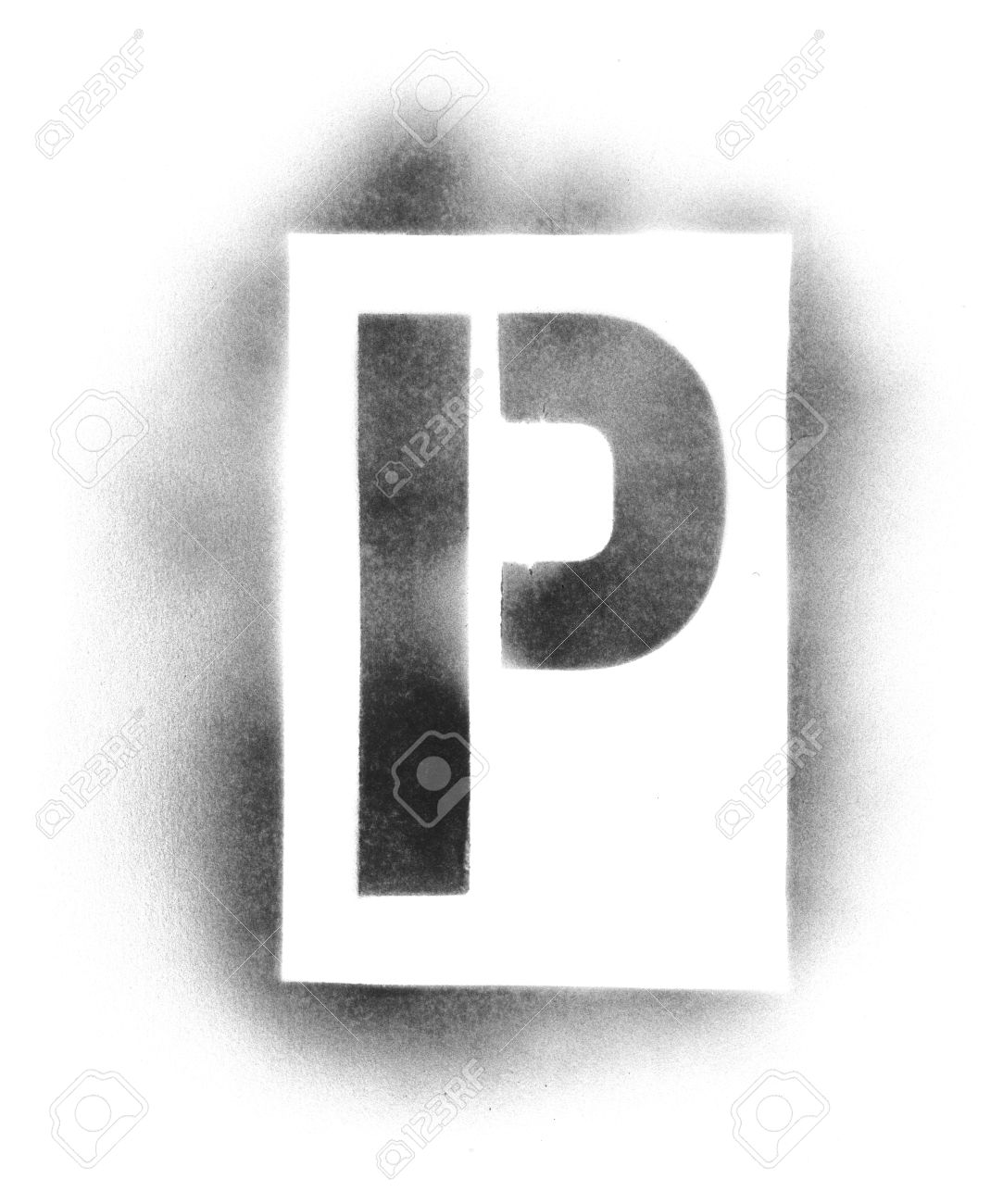 Stencil Letters In Spray Paint Stock Photo Picture And Royalty Free