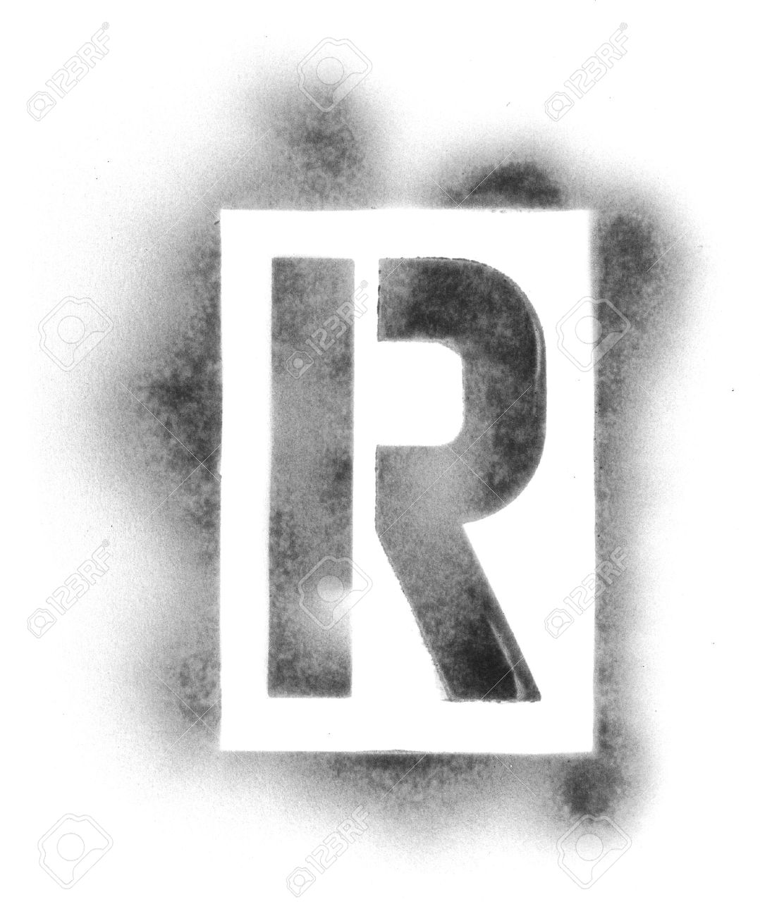 stencil letters in spray paint stock photo 5041358
