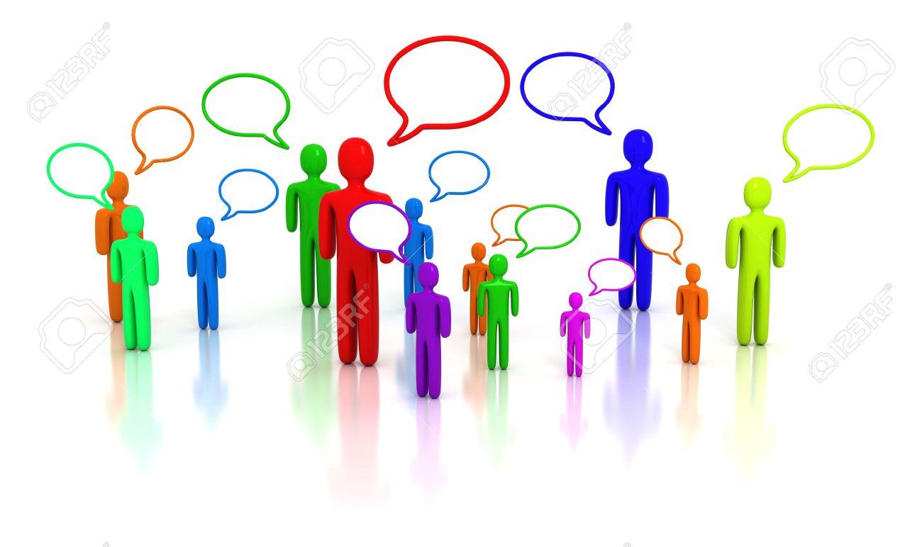 People talking Stock Photo - 5299399