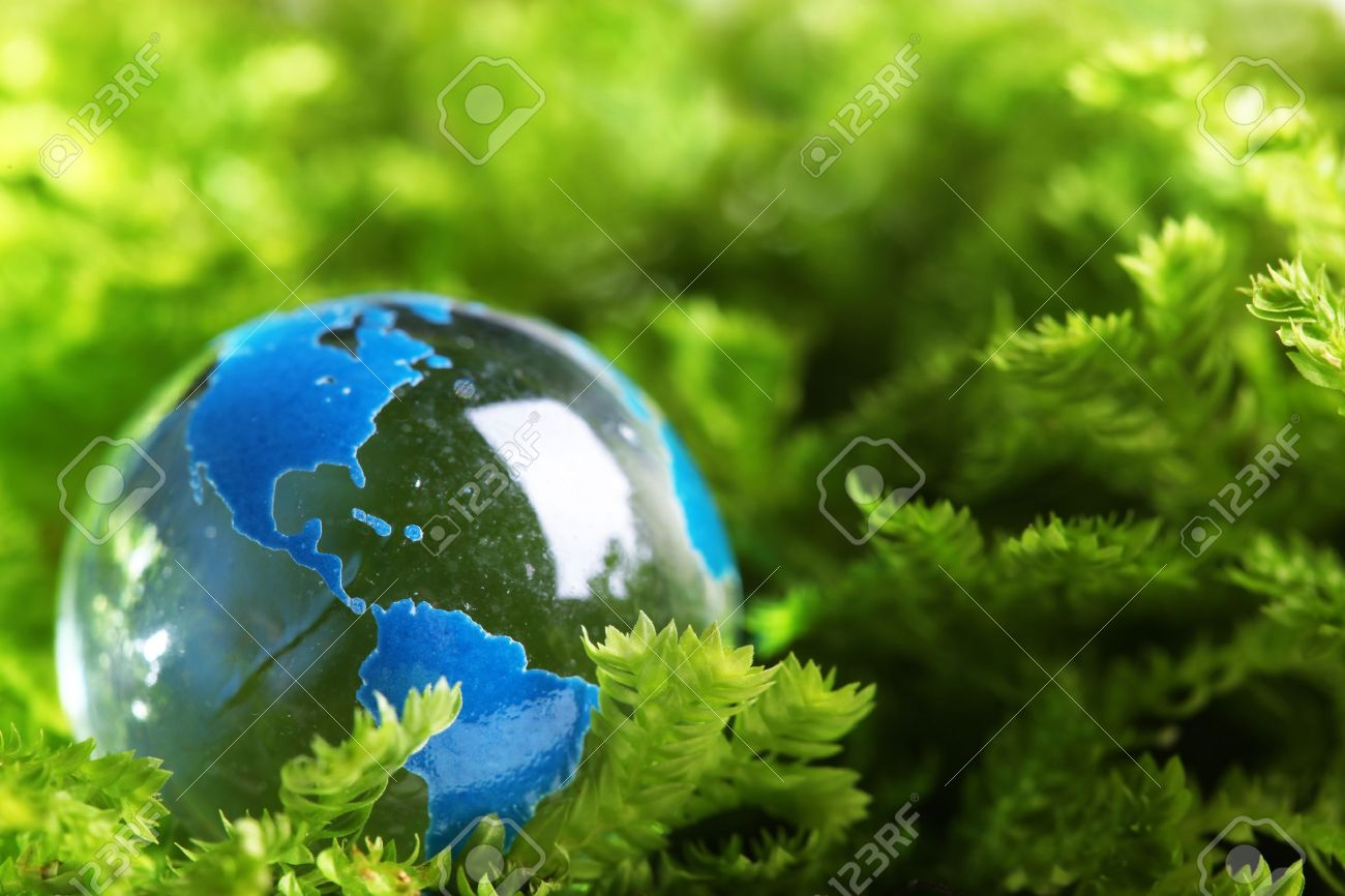 Earth Marble in Plant Green
