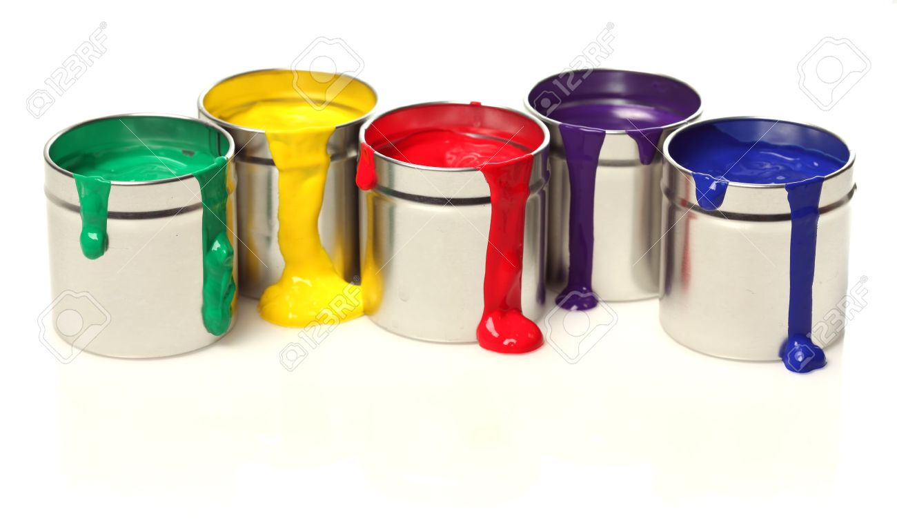 Cans of paint Stock Photo - 7698453