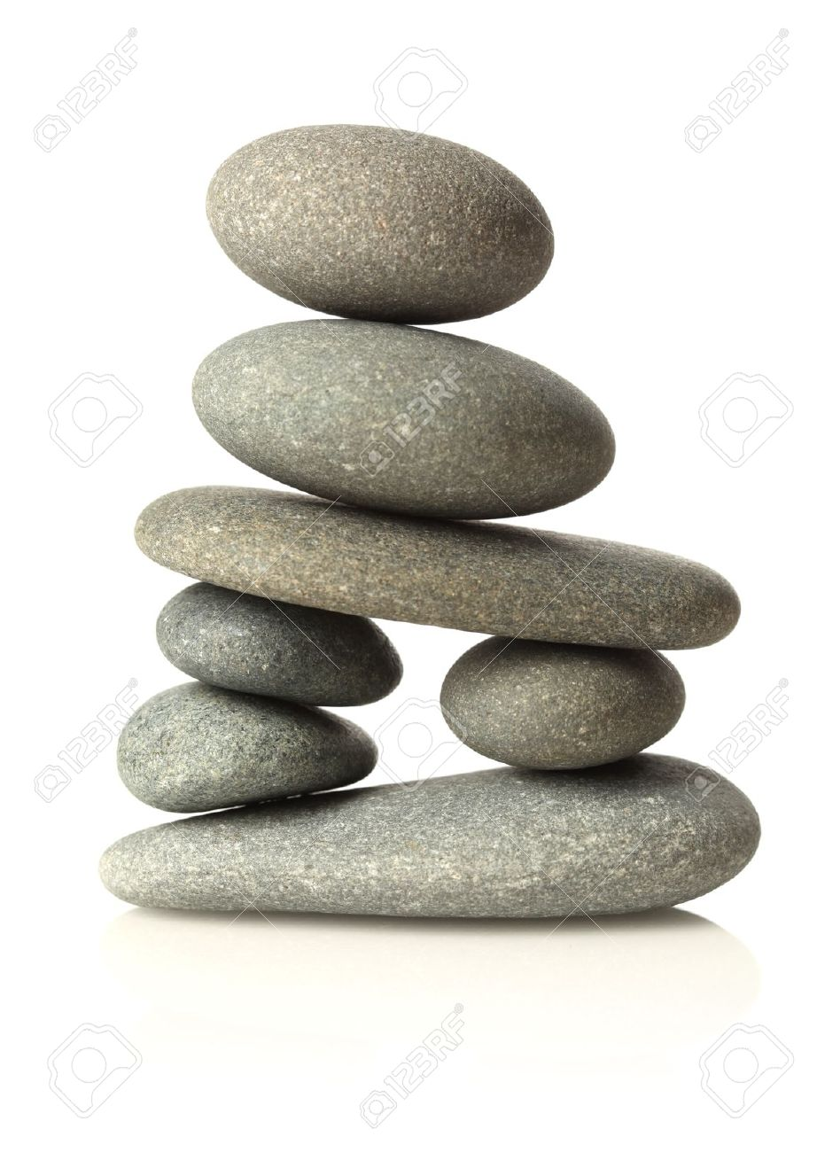Stacked stones isolated on white Stock Photo - 8999800