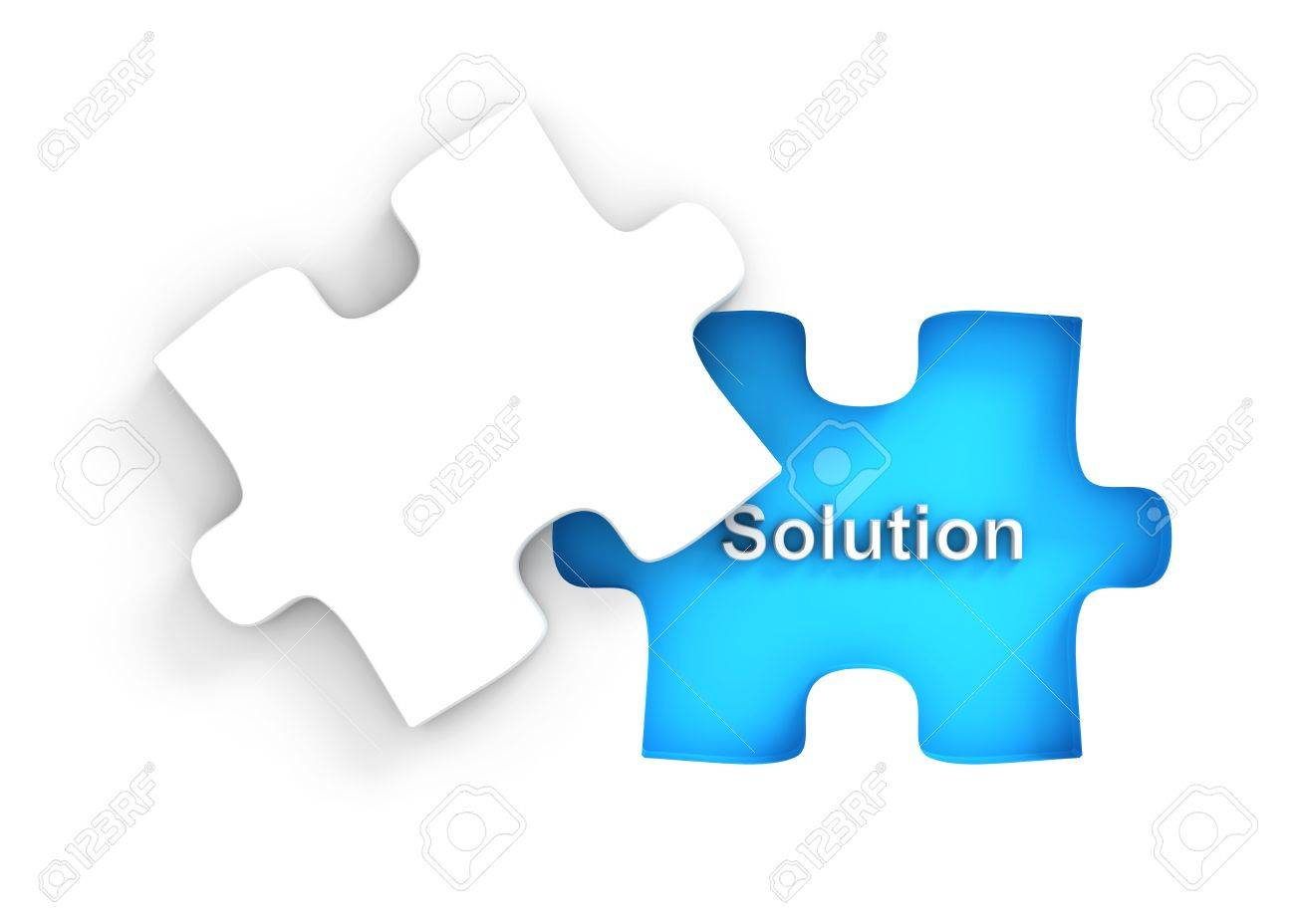 Puzzle with missing peice Stock Photo - 9034976