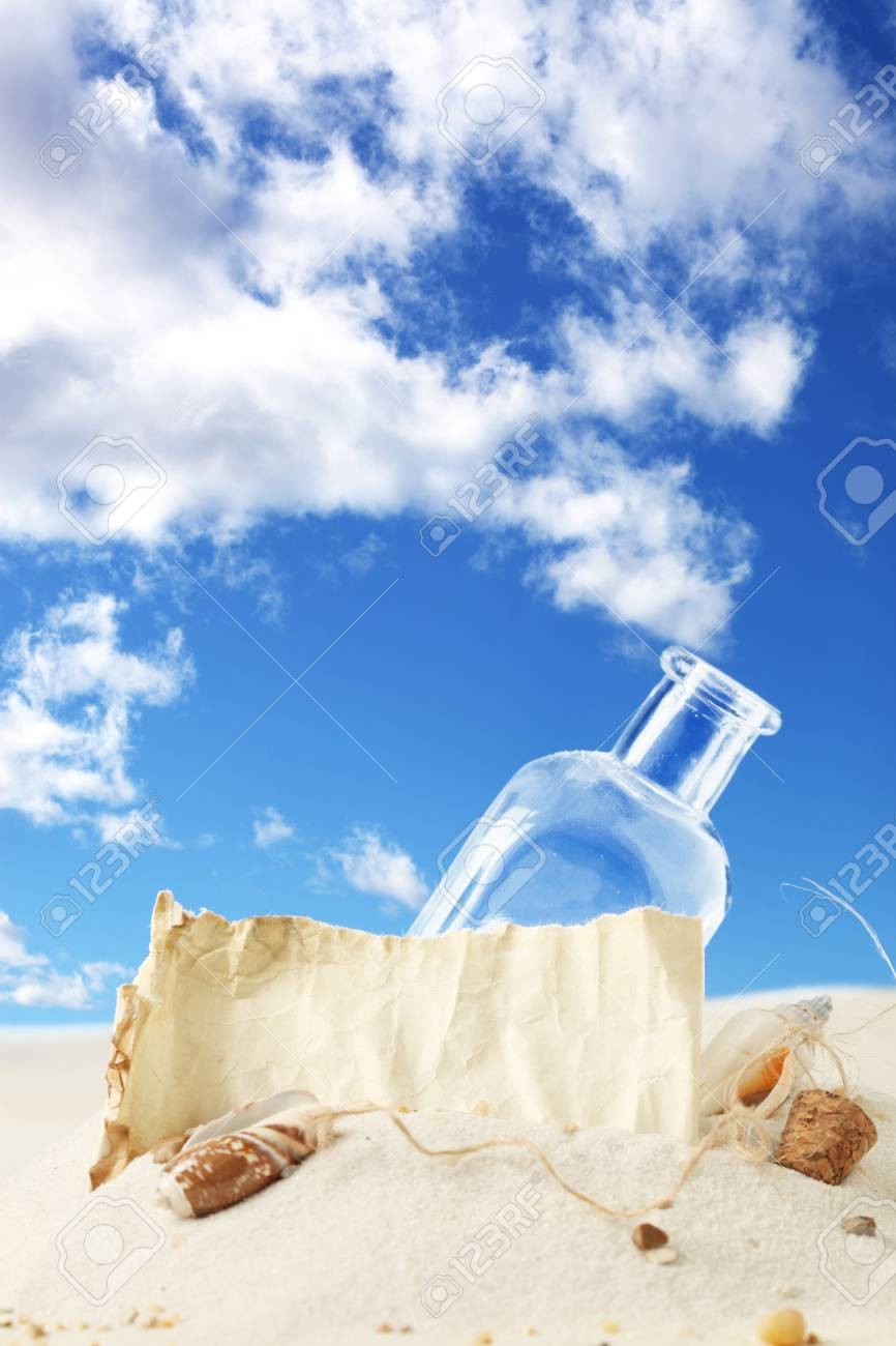Message in a bottle Stock Photo - 9631684