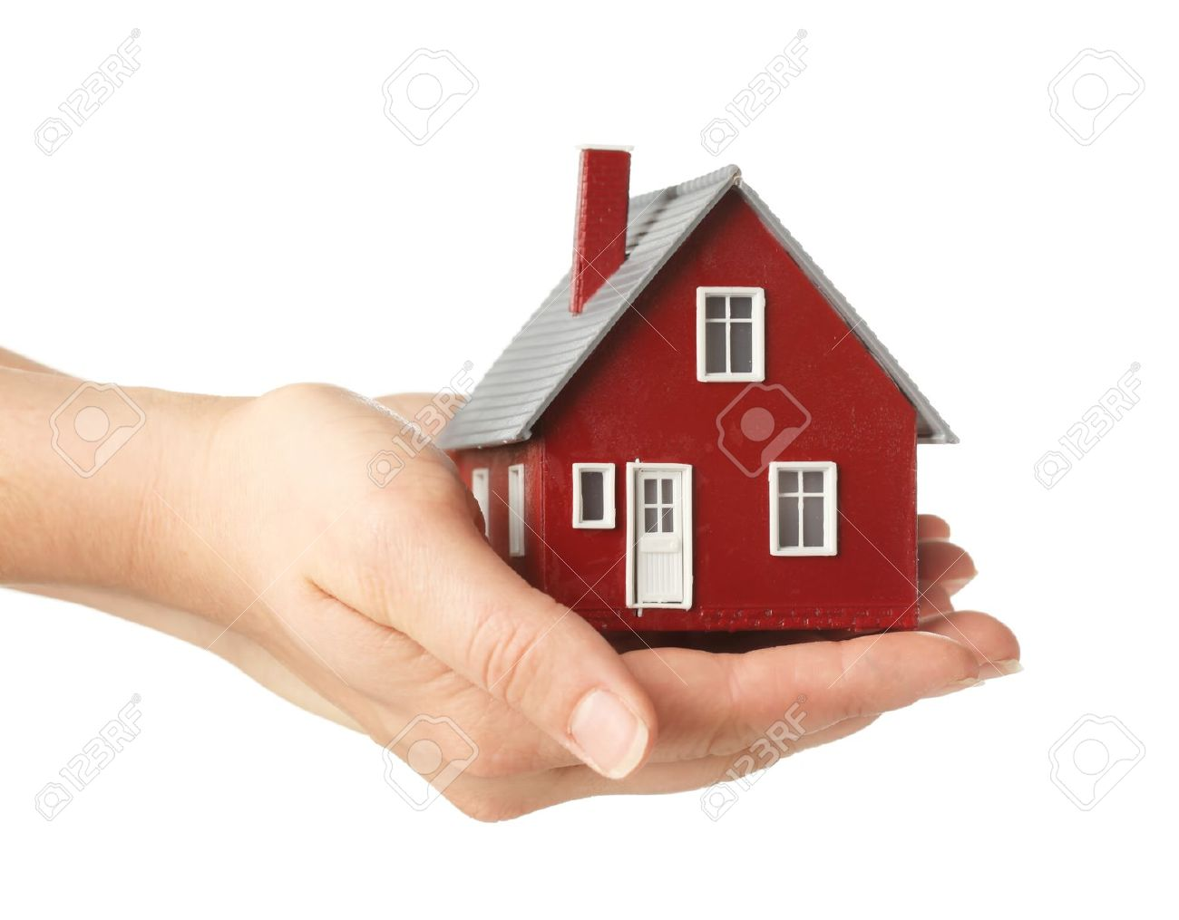 Hand holding house Stock Photo - 9631670