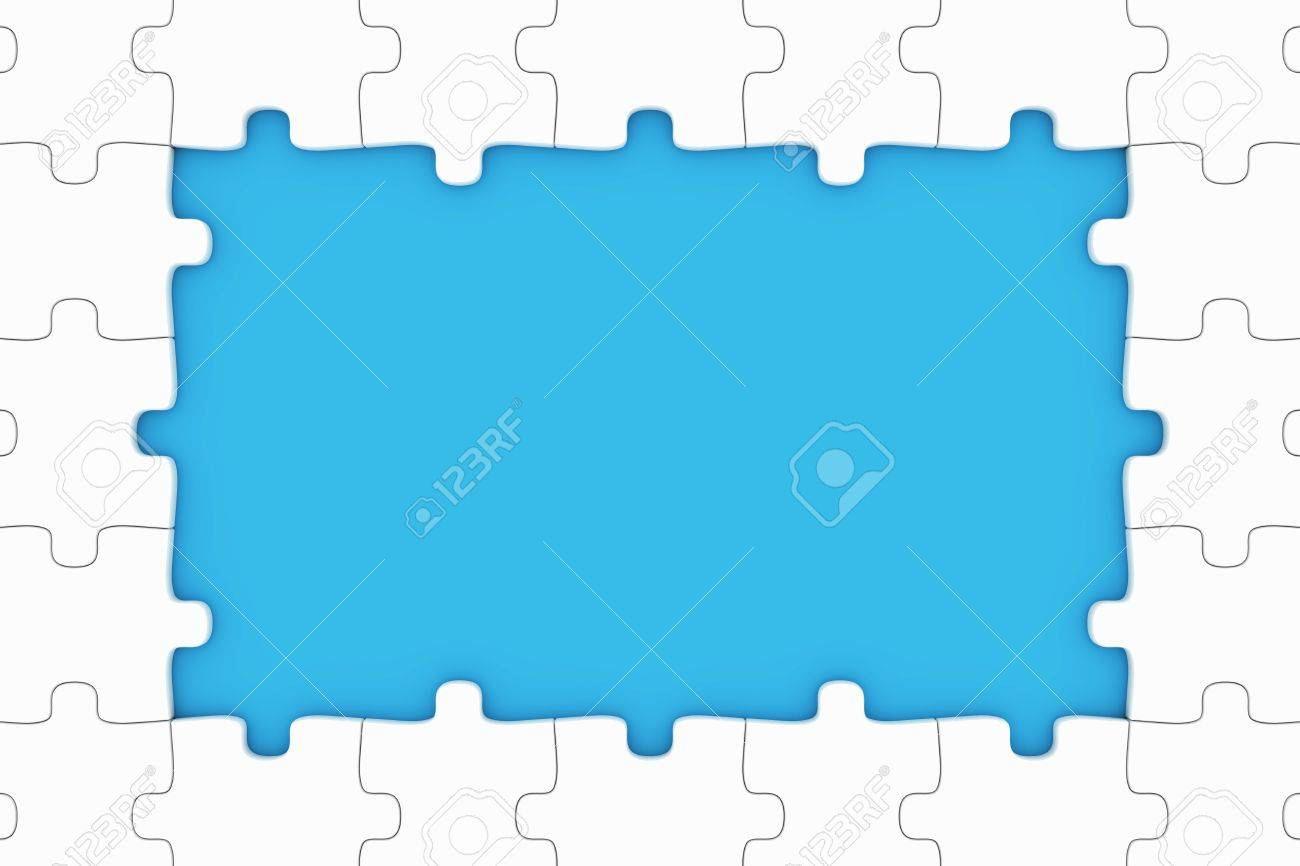 Puzzle pieces frame stock photo picture and royalty free image puzzle pieces frame stock photo 9631668 jeuxipadfo Images