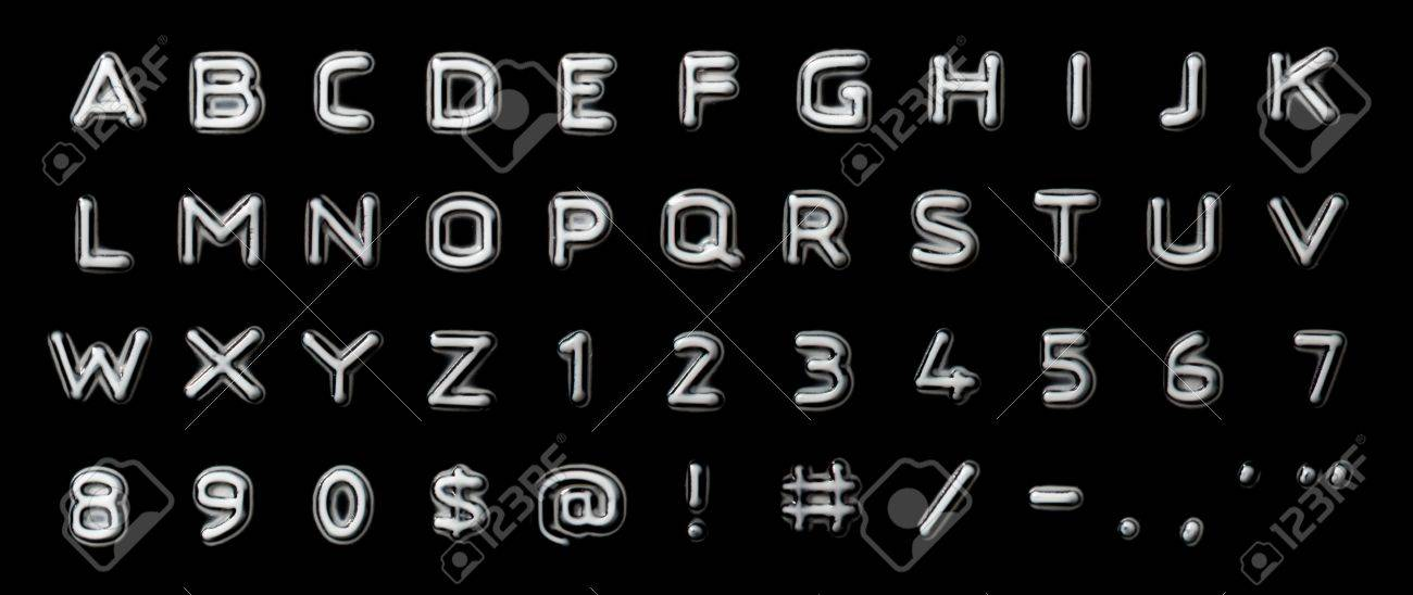 Embossed Letter And Numbers Stock Photo, Picture And Royalty Free ...