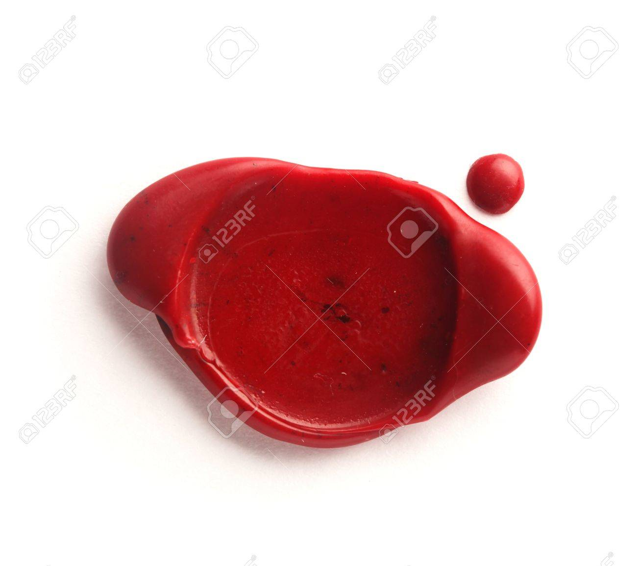 Red wax seal isolated on white Stock Photo - 10229380