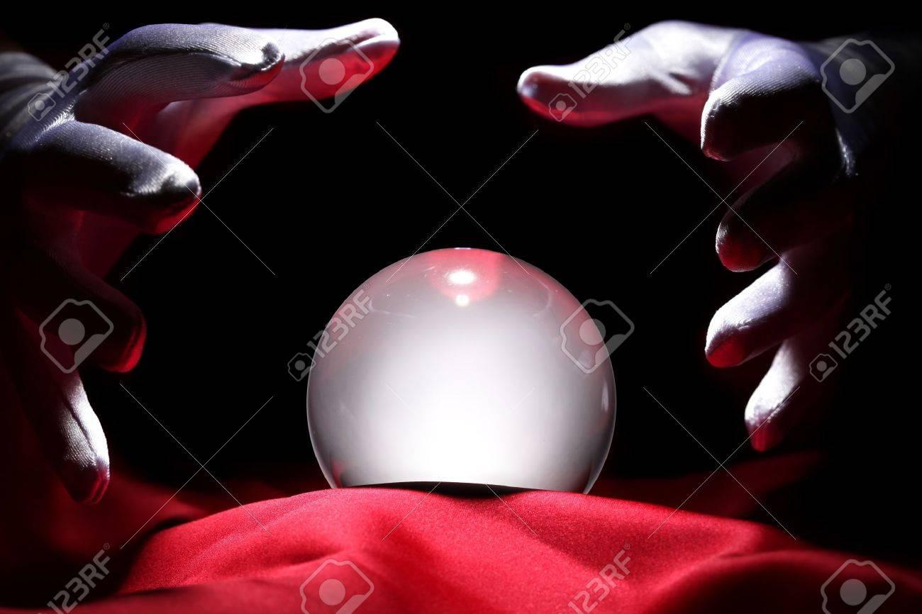 Glowing crystal ball Stock Photo - 10229392