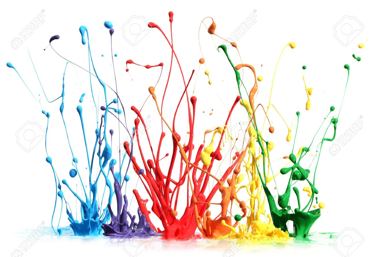 Free illustration watercolor pigment color free image - Colorful Paint Splashing Isolated On White Stock Photo 10279067
