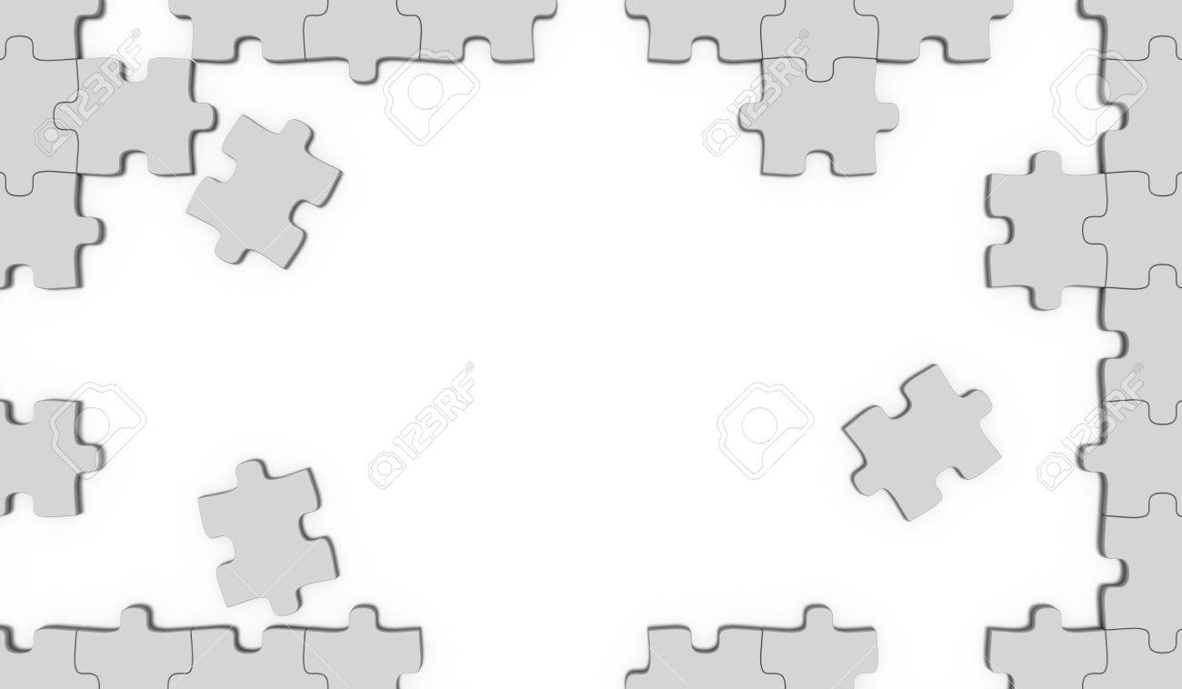 Puzzle pieces frame stock photo picture and royalty free image puzzle pieces frame stock photo 11020751 jeuxipadfo Images