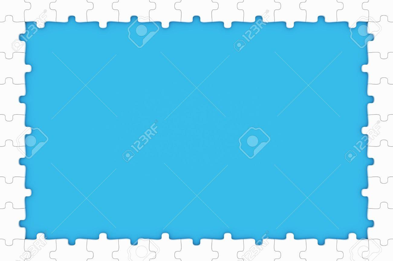 Puzzle pieces frame stock photo picture and royalty free image puzzle pieces frame stock photo 11375515 jeuxipadfo Images