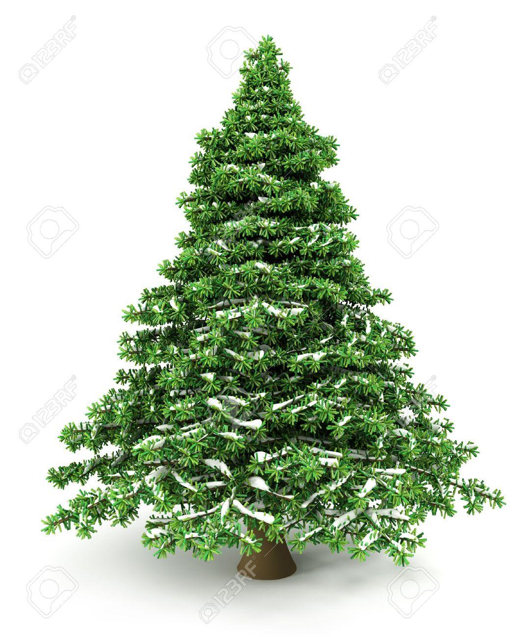 Snowy Christmas Tree - 11375665