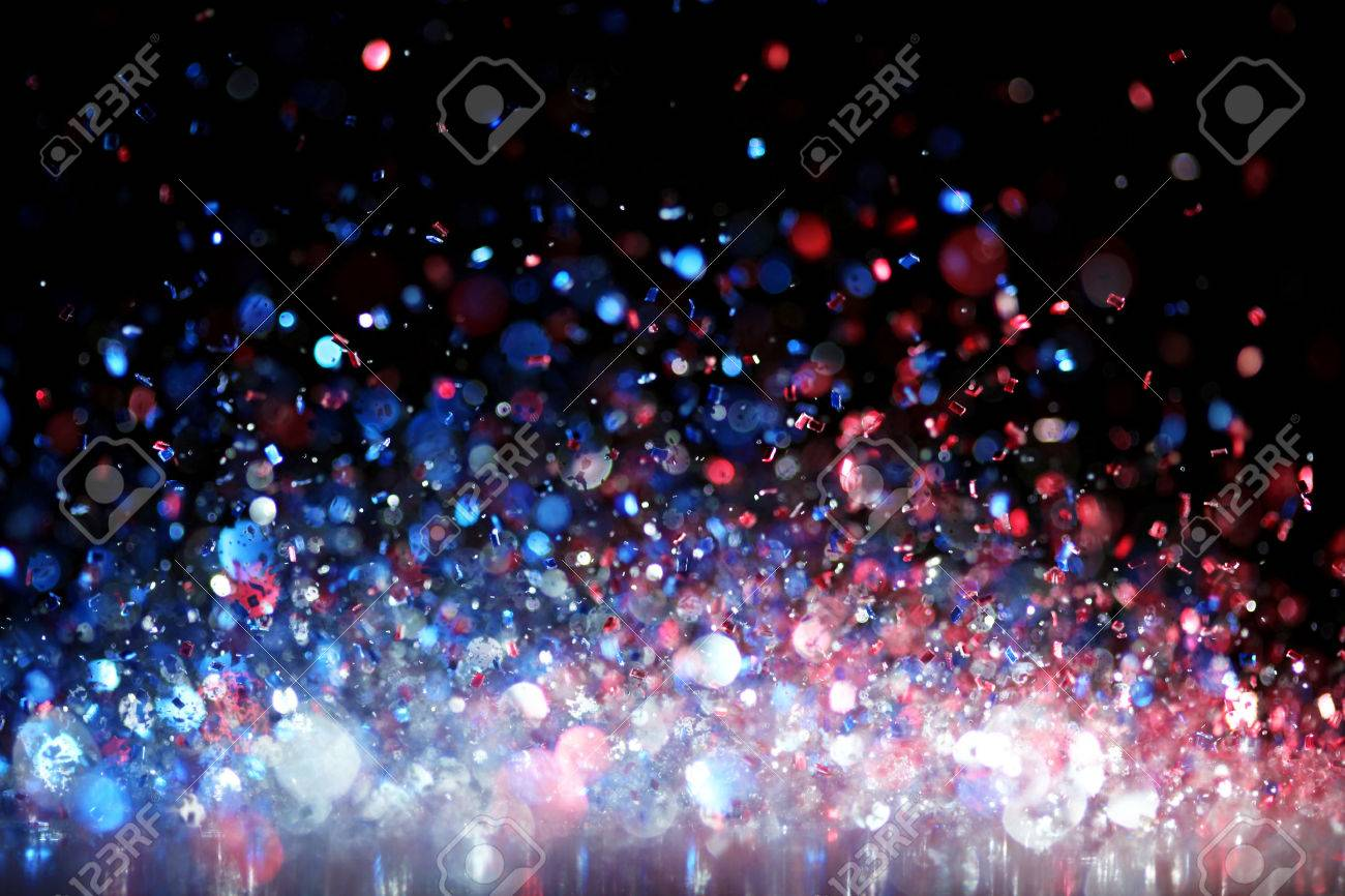 Red, white and blue glitter Stock Photo - 25869360