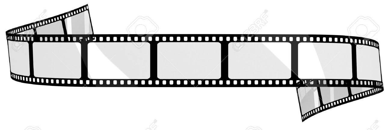 Blank Film Banner Stock Photo