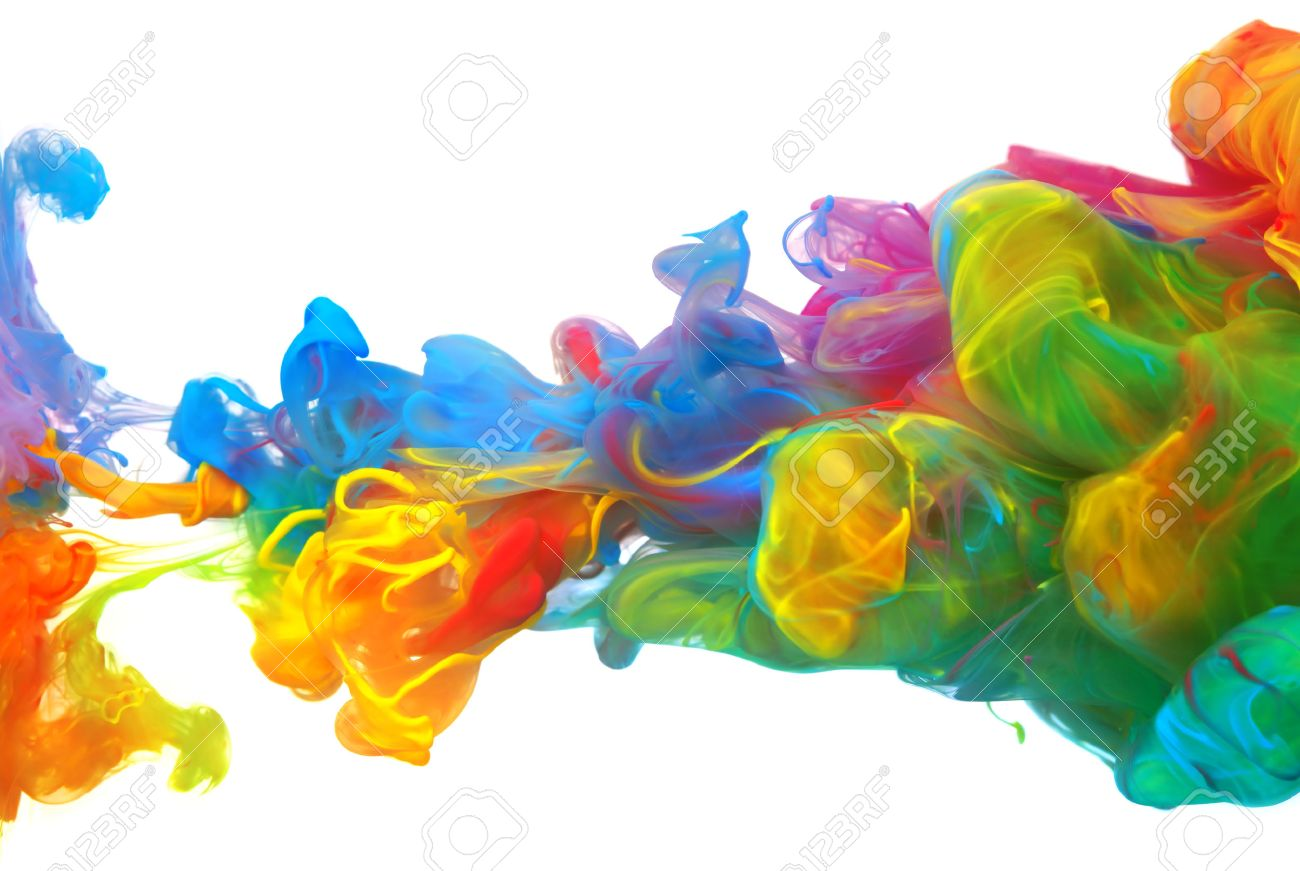 Free illustration watercolor pigment color free image - Clouds Of Bright Colorful Ink Mixing In Water Stock Photo 43651774