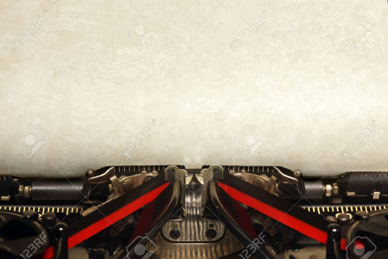 old vintage typewriter blank paper stock photo picture and old vintage typewriter blank paper stock photo 43656404