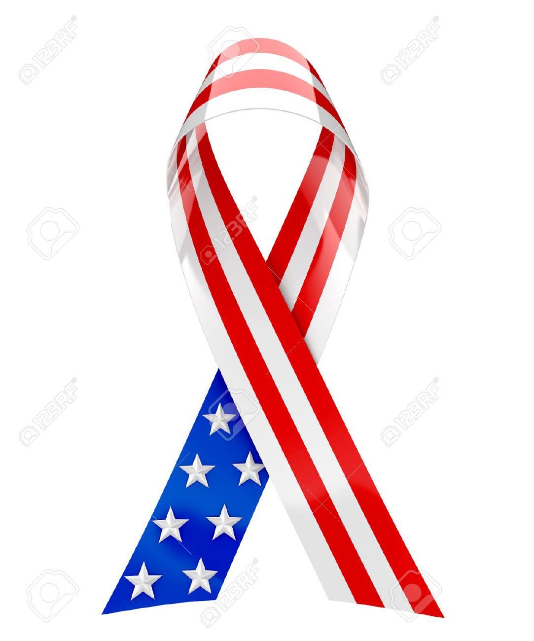 USA ribbon - 3d rendering - 59194844