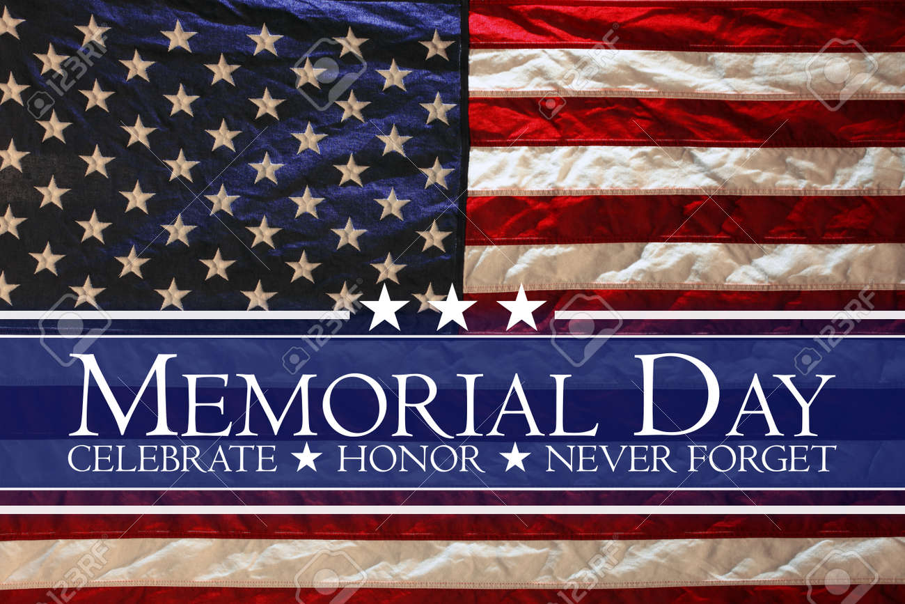 American flag Memorial day background - 169060075