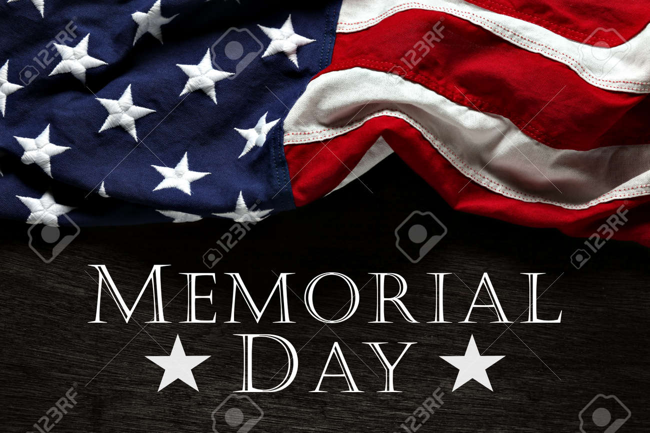 Old American flag background for Memorial Day - 169060081