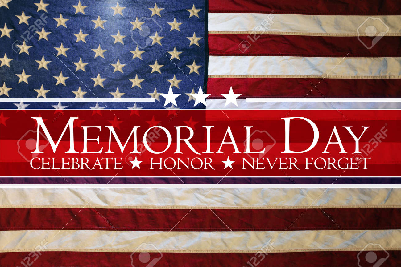 American flag Memorial day background - 169060099