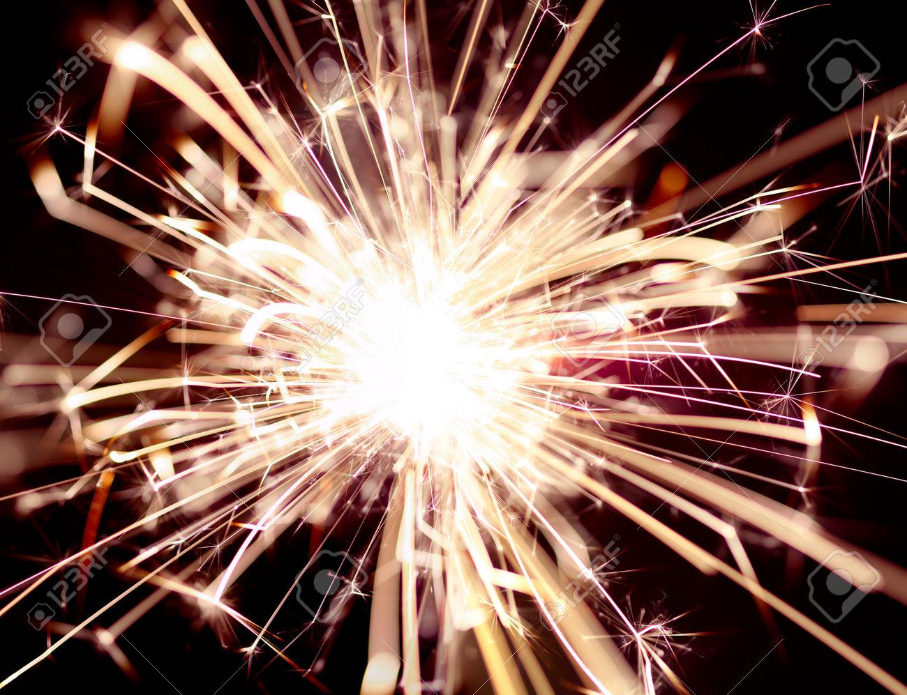 Close up of burning sparker - 170507145