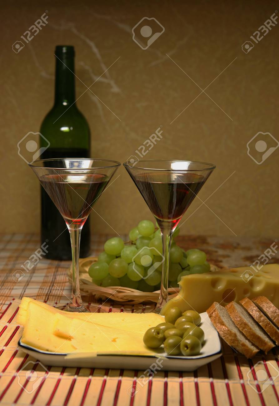 Table for a dinner, covered for a two Stock Photo - 4329886