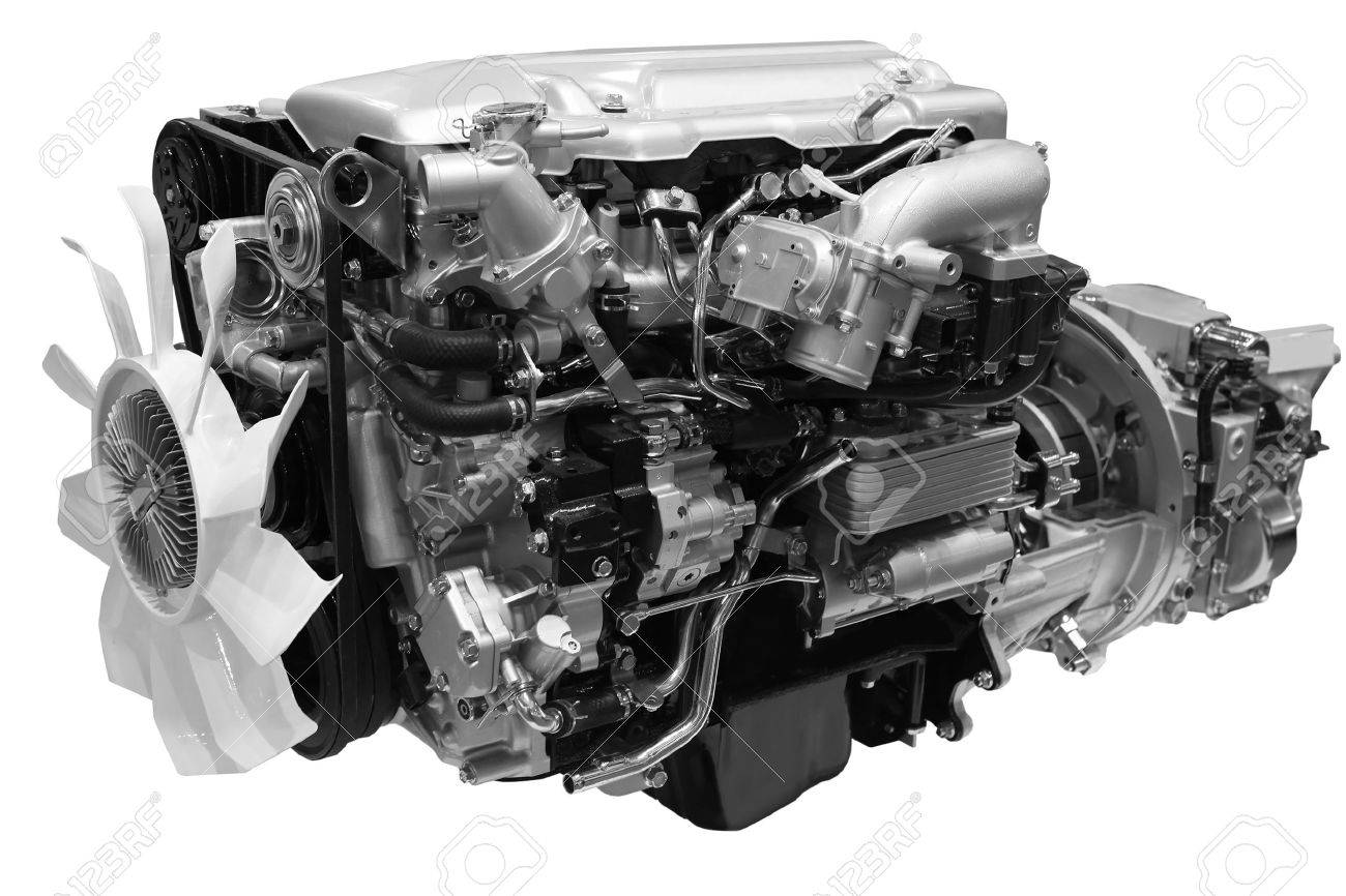 Close up shot of turbo  diesel engine Stock Photo - 10689480