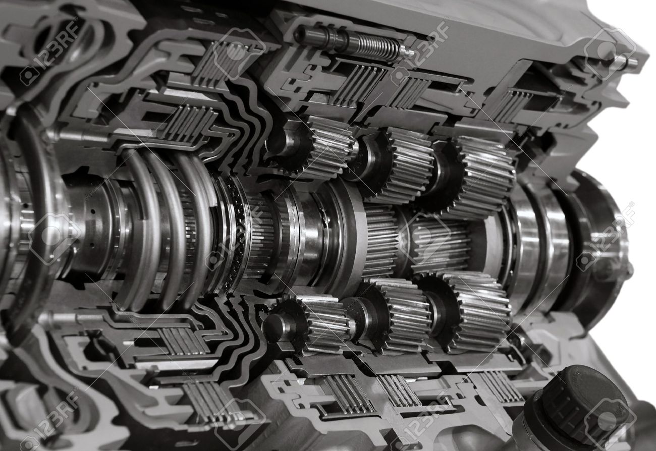 Automotive transmission gearbox with lots of details Stock Photo - 10689486