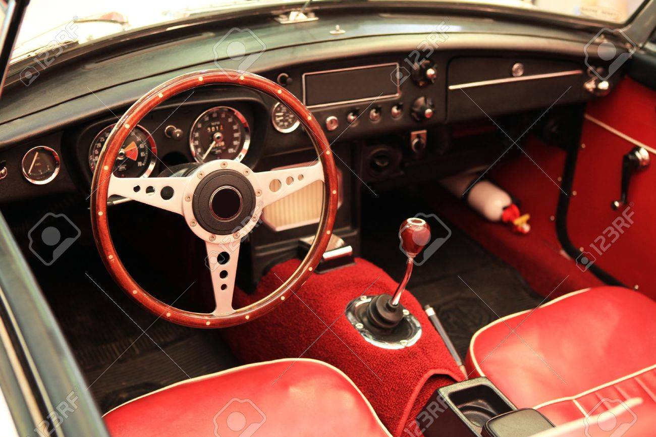 black dashboard from 1960s classic sports car Stock Photo - 11556167