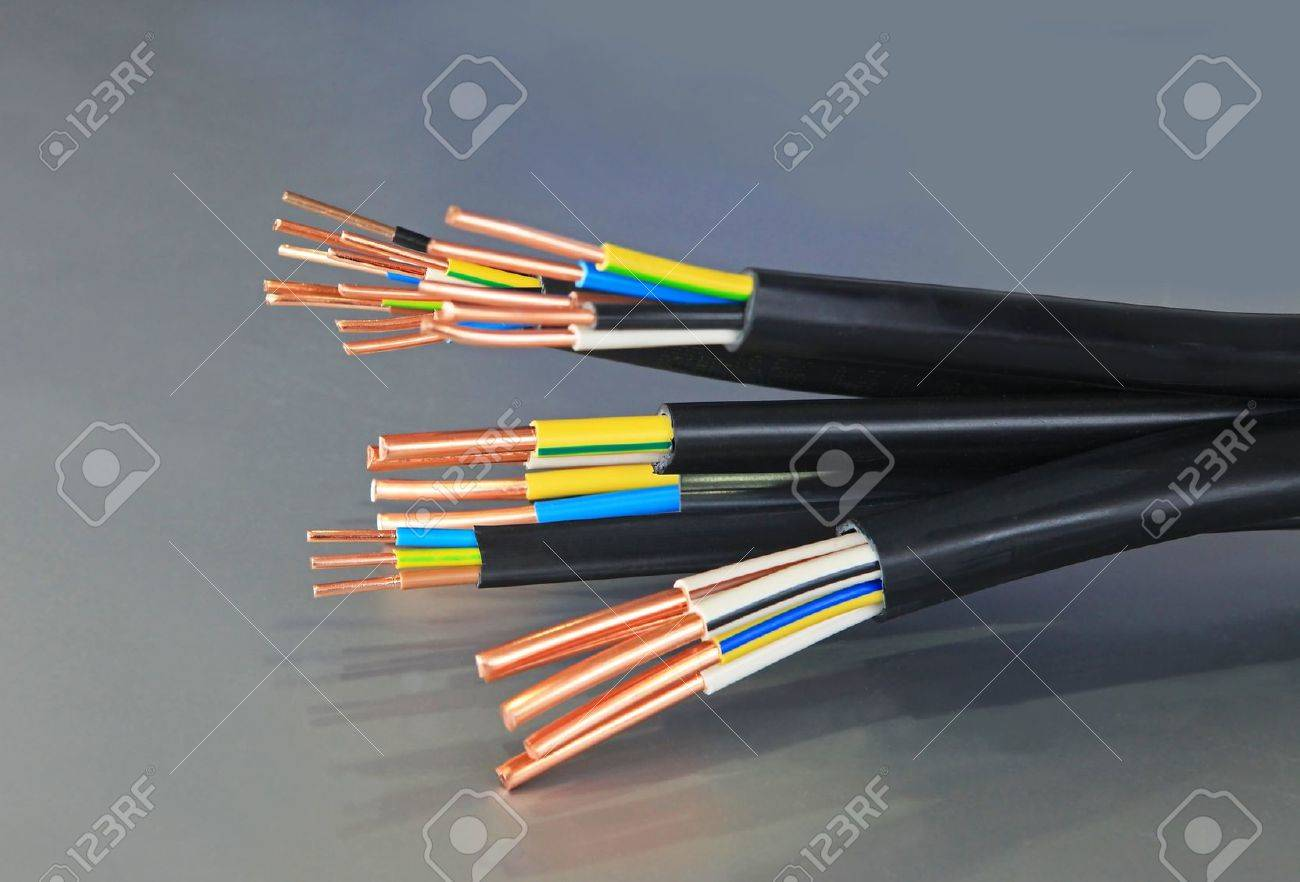 cable used in electrical wiring systems Stock Photo - 12753513