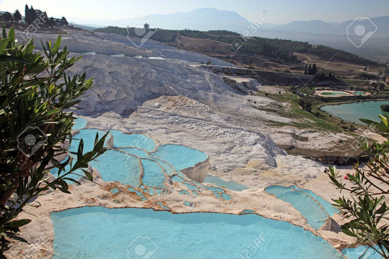 Piscinas Naturales Travertino Y Terrazas Pamukkale Turquía