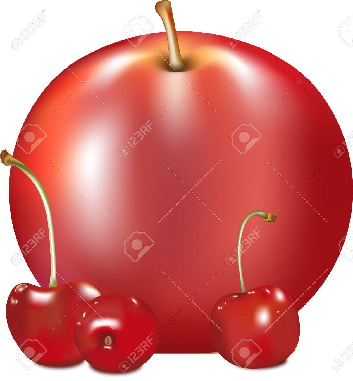 Manzana Del Color Rojo, Jugosa Fruta Madura, Fruta De Manzana-árbol ...