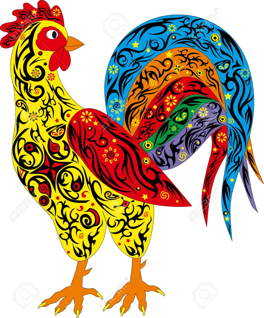 The rooster a symbol chicken color a pet an animal with a the rooster a symbol chicken color a pet an animal with a pattern biocorpaavc Gallery