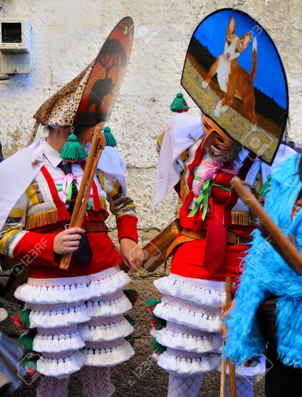 Verin-spain,4-February-2018 Carnival Verin in Galicia Spain one of the most ancient in the world - 102605529