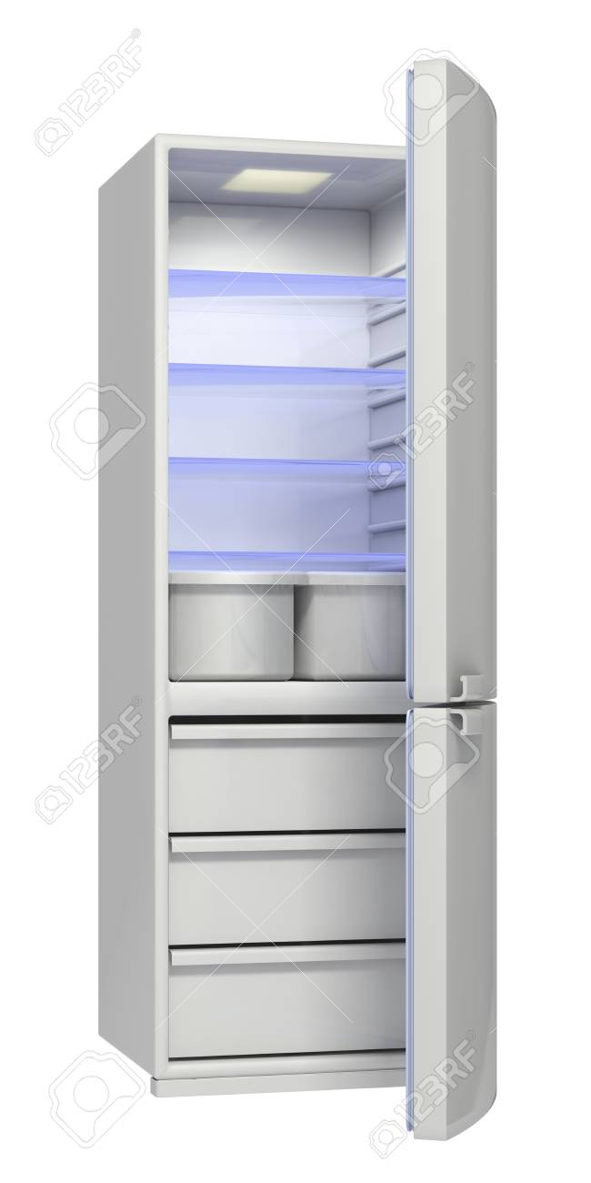 refrigerator on a white background Stock Photo - 17935704