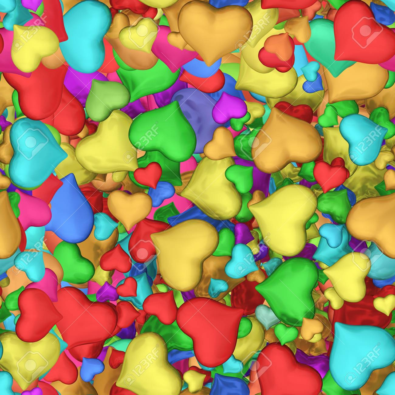 Seamless texture of hearts Stock Photo - 20331934