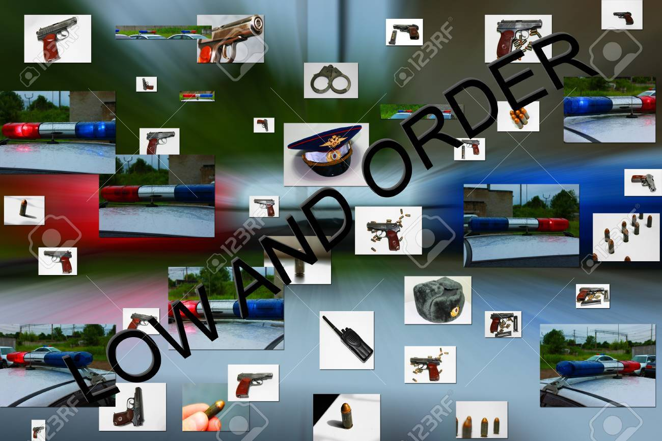 The Abstract drawing to subjects of the fight to police bodies with criminality Stock Photo - 17015567