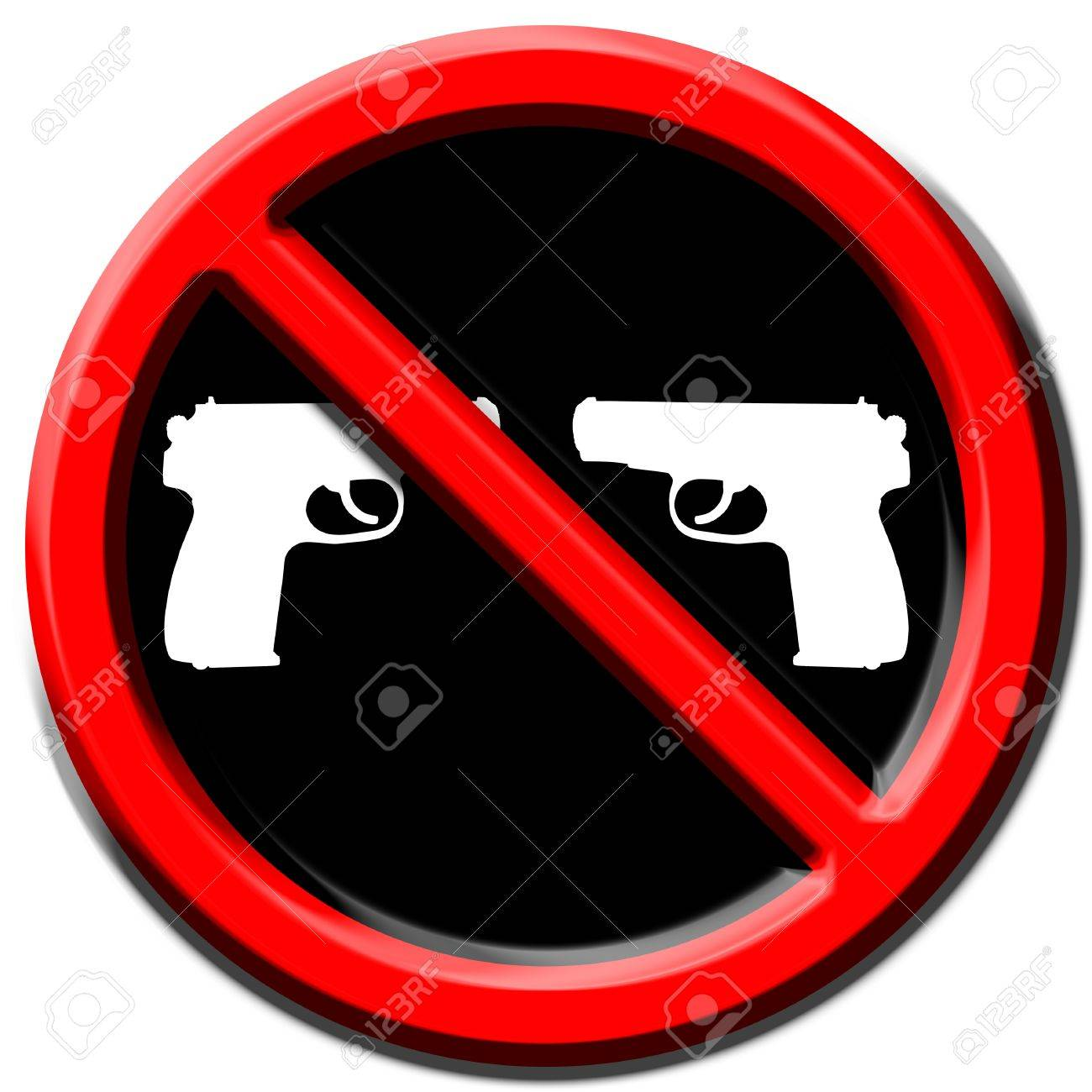 Prohibition sign calling for peace on Earth Stock Photo - 17015622