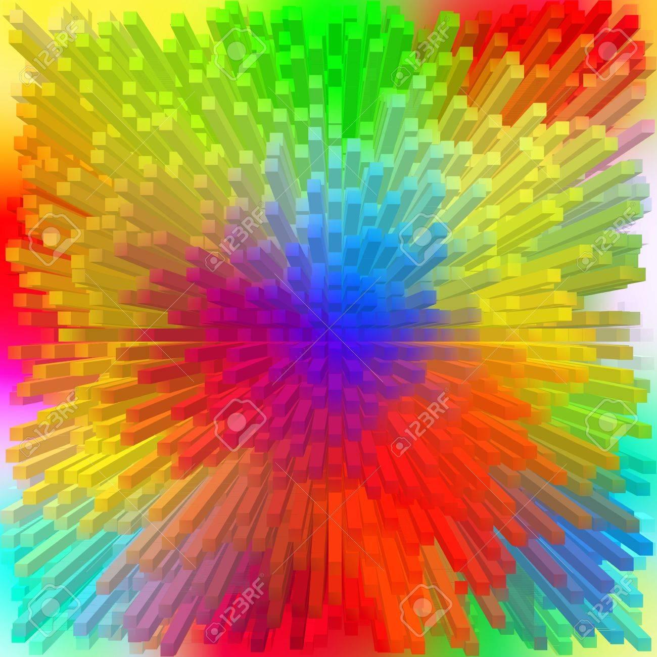 Color Spectrum with rainbow background Stock Photo - 17015551