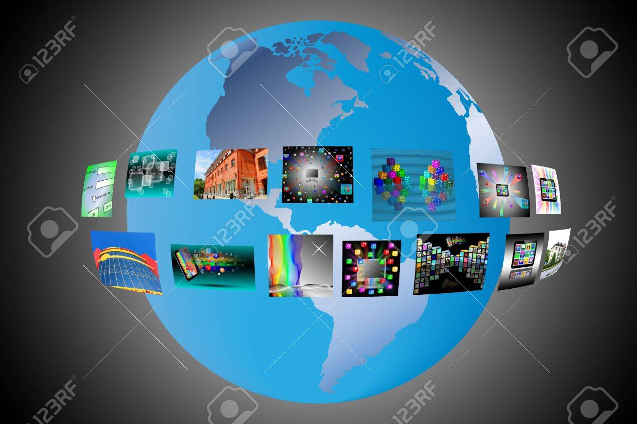 Abstract image of a model of the world for designers for various necessities Stock Photo - 17015460