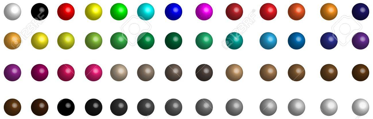A small collection of colored glass buttons in the form of balls for different needs Stock Vector - 17532304