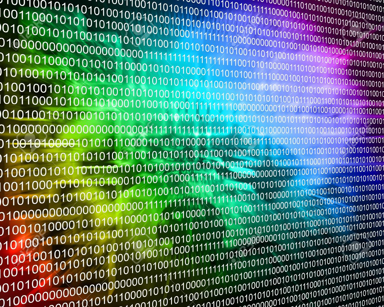 Composition, which depicts a computer abstraction in binary form in cyberspace. Stock Photo - 25533714