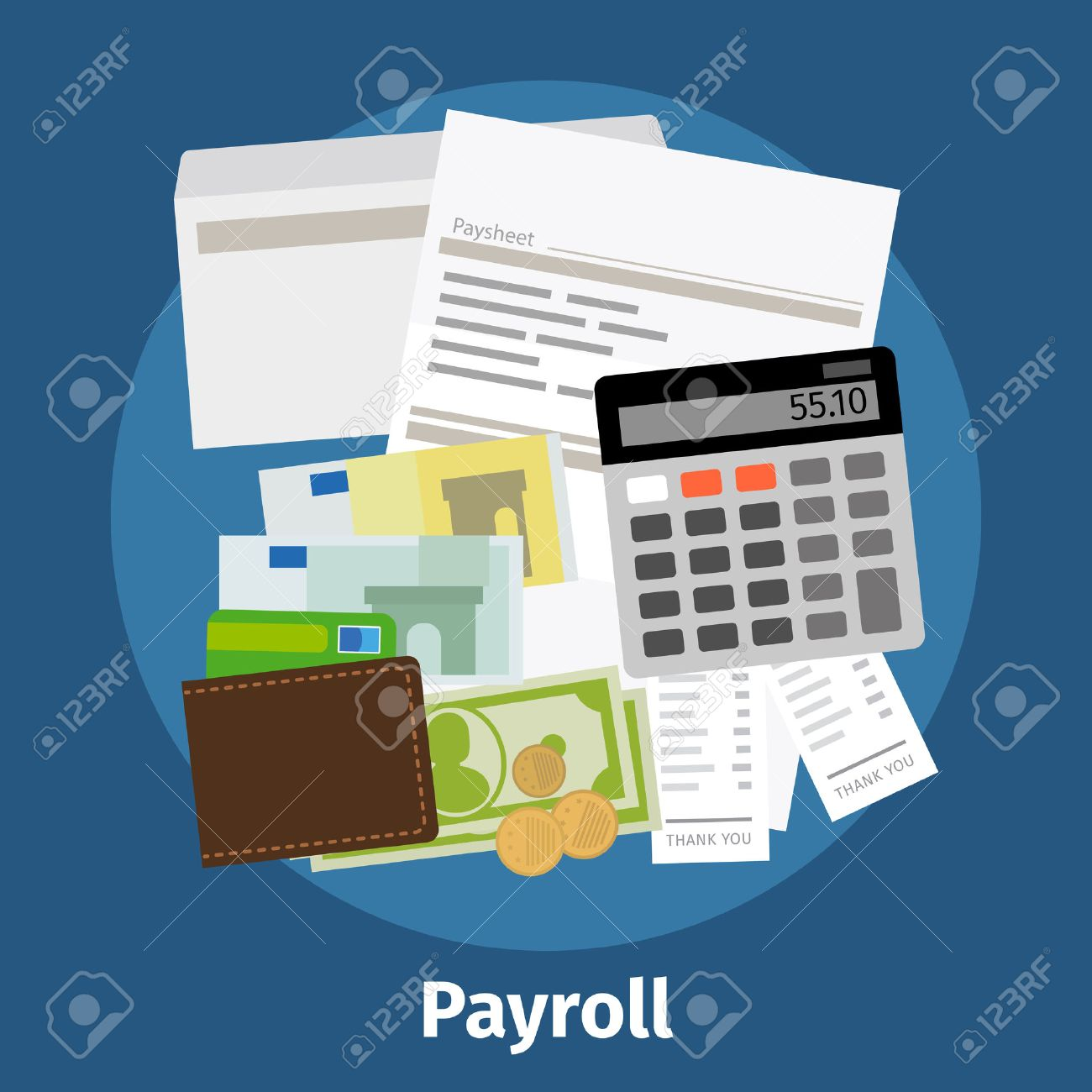 Invoice Sheet, Paysheet Or Payroll Icon. Calculating And Budget ...