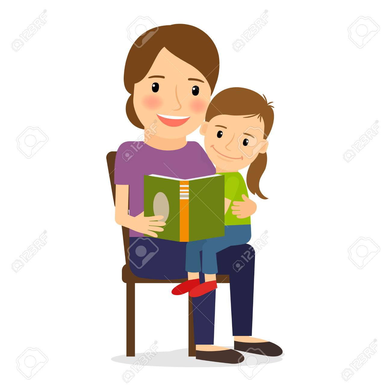 mother and child reading book family time and childcare royalty rh 123rf com Reading Time Clip Art Community Reading Night Clip Art