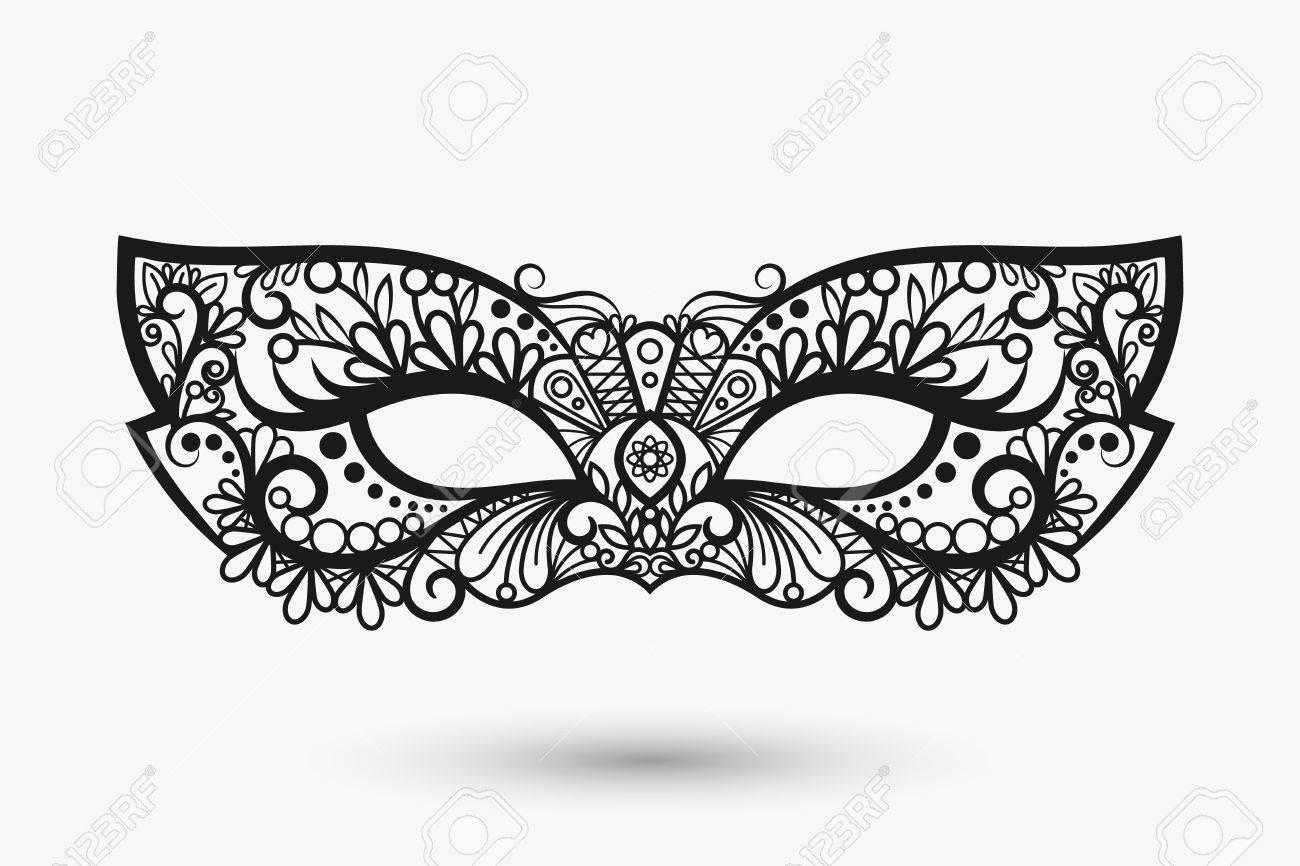 lace mask. Mardi Gras mask icon. llustration - 56382085