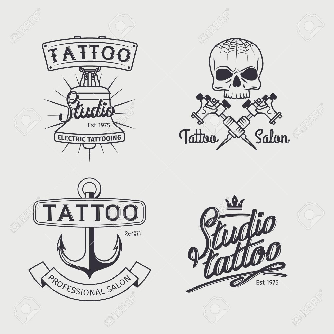 Plantillas Estudio De Tatuajes Vector De Tatuaje Retro Del Art