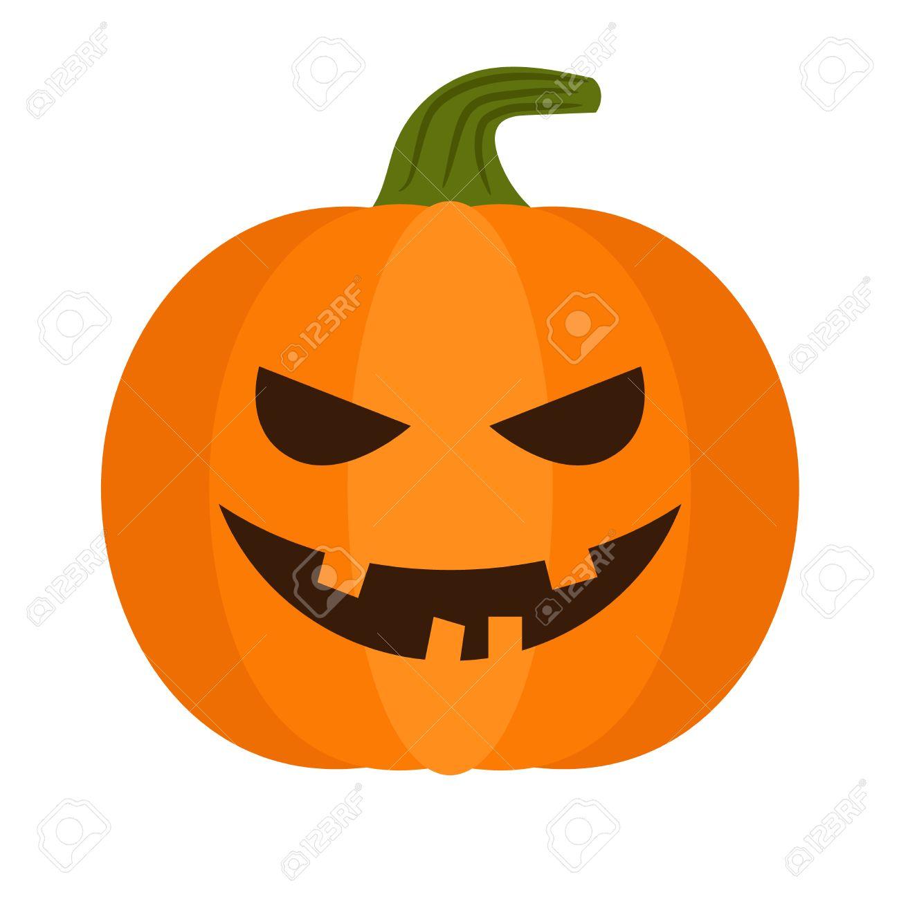 Halloween Pumpkin Vector.Cartoon Halloween Pumpkin Vector Pumpkin With Sinister Smiling