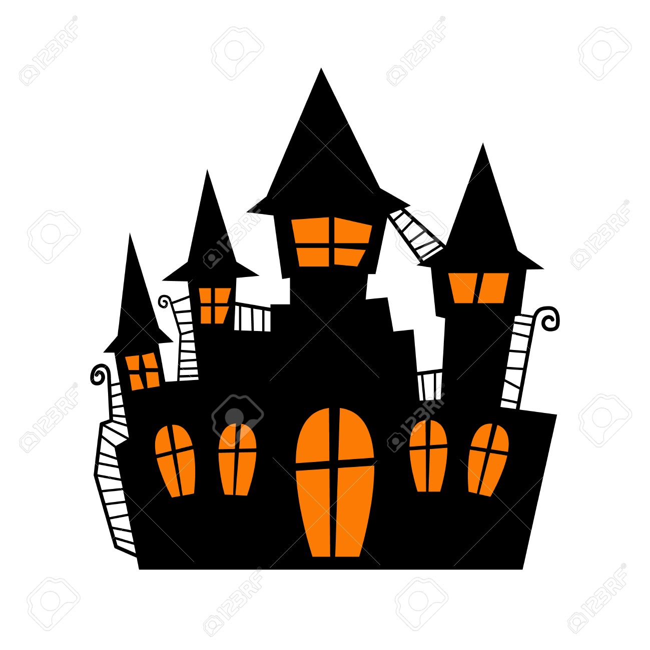 Scary old castle for halloween invitation card or halloween party scary old castle for halloween invitation card or halloween party poster vector stock vector 63192929 stopboris Image collections
