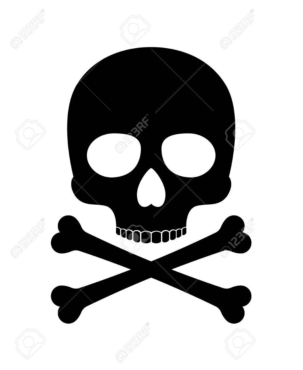 skull vector silhouette crossbones skull death icon isolated rh 123rf com skull vector free download skull vector image